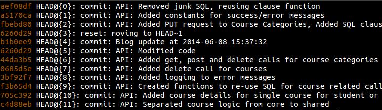 Git reflog