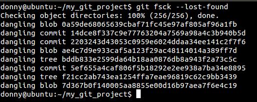 Git fsck results