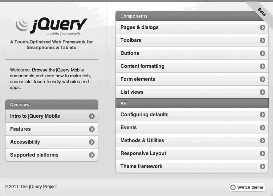 jQuery Mobile框架