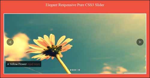 Elegant Responsive Pure CSS3 Free jQuery Slider