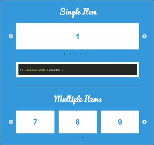 Slick jQuery Responsive Touch Carousel Free Slider Plugin