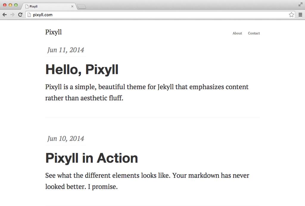 Pixyll screenshot
