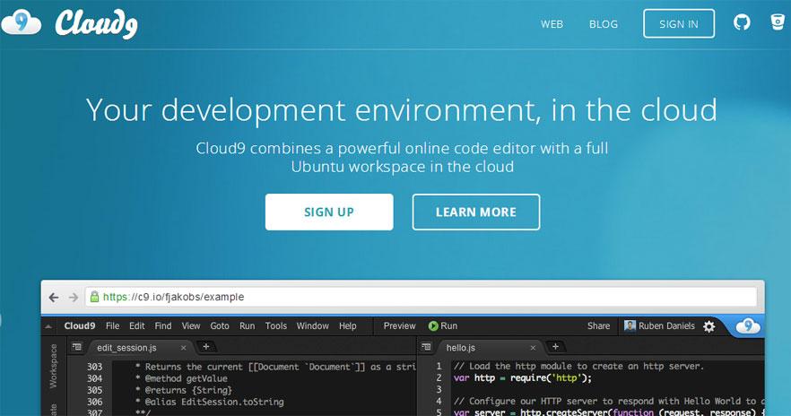 Cloud9 IDE在线编辑器