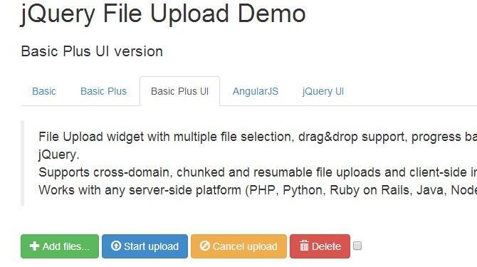 jquery文件上传插件