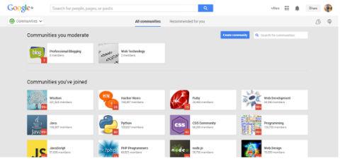 Google+communitie