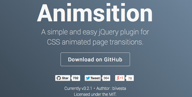 animsition - one of the best jQuery plugins
