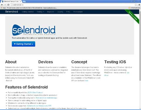 Selendroid android mobile testing tool