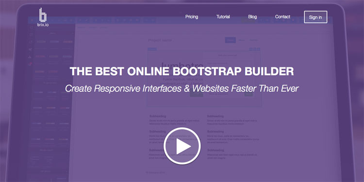 Brix.io - Bootstrap Builder