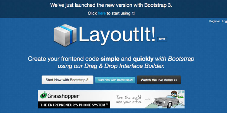 Layoutit - Interface Builder for Bootstrap