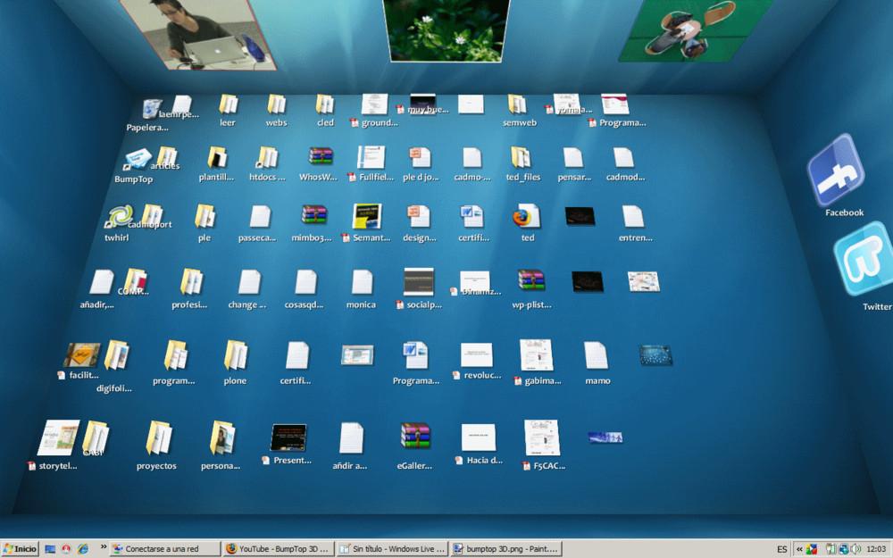3D桌面界面 BumpTop