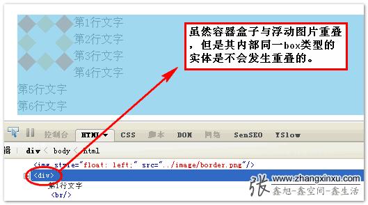 与浮动元素的重叠 >> 张鑫旭-鑫空间-鑫生活