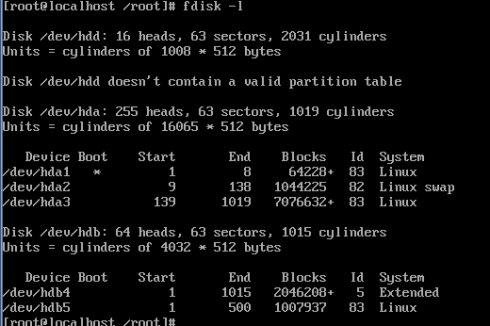 Linux分区命令fdisk图文详解