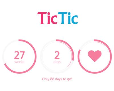 TicTic – jQuery Pregnancy Ticker