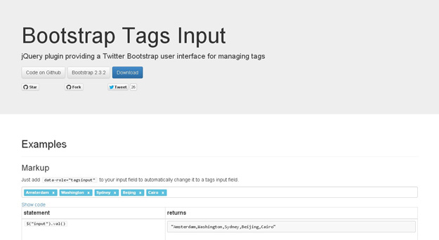 Bootstrap Tags Input
