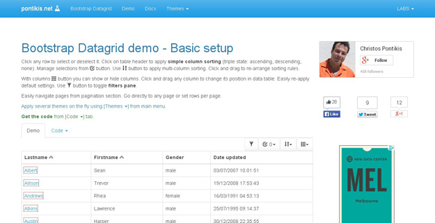 bs Datagrid