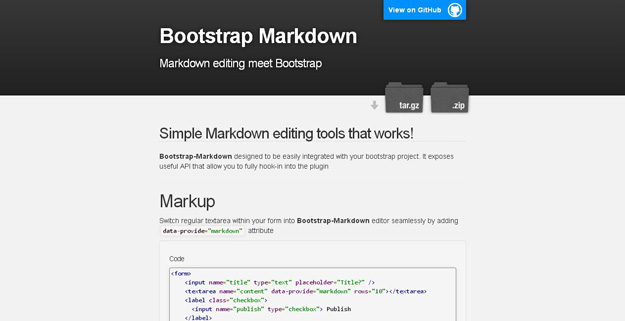 Bootstrap-Markdown