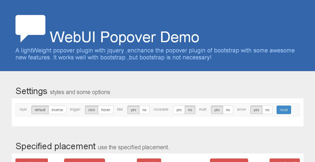 WebUI Popover Demo