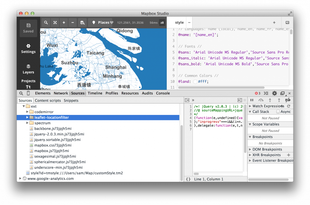 mapbox studio中用到的web技术:Mapnik, node.js, backbone.js, leaflet, codemirror