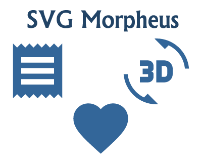 SVG Morpheus – Material Design Inspired SVG Icons Morphing Effect