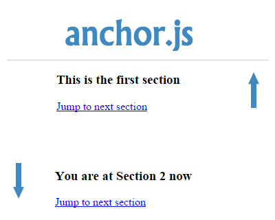 anchor.js – Jump to Specific Section Smoothly