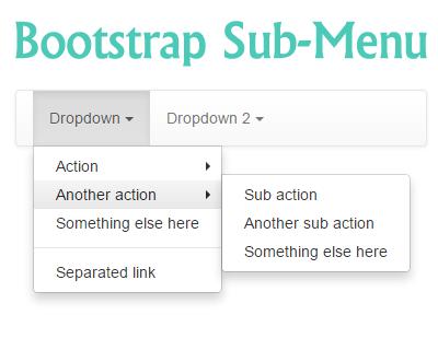 Bootstrap Sub-Menu