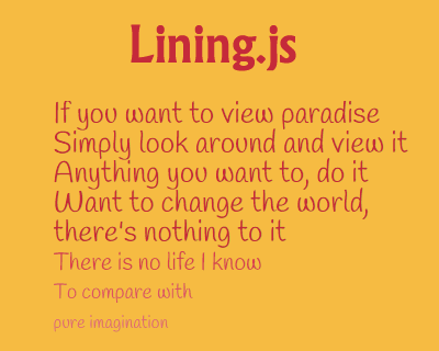 Lining.js – Javascritp Plugin to Easy Select 'nth' Text Lines