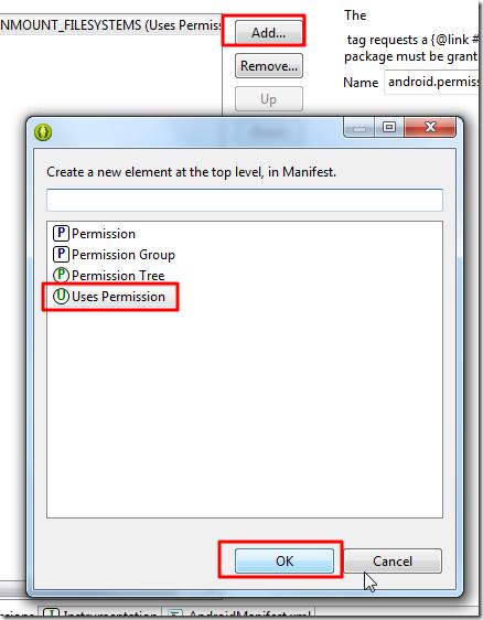 add uses permission ok