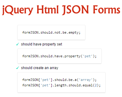 jQuery Html JSON Forms