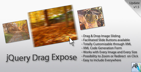 jquery drag expose