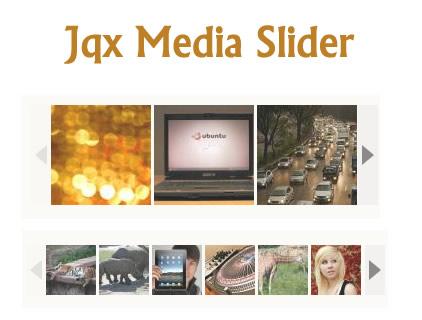 Jqx Media Slider – Customizable jQuery Media Slider Plugin