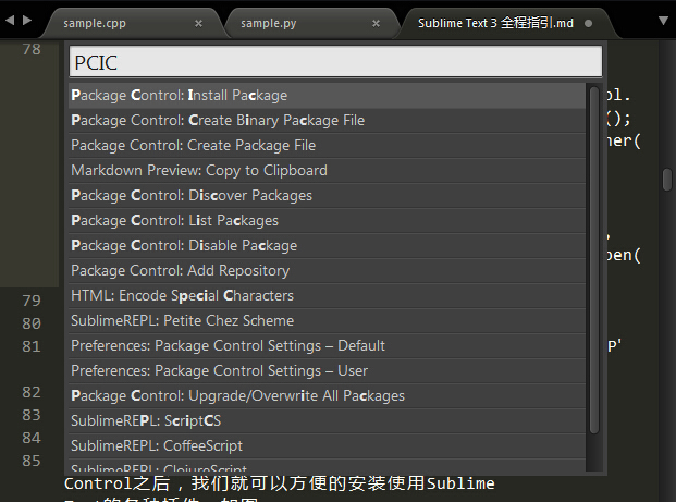 Package Control安装成功