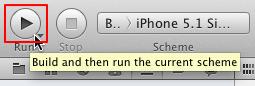 run iOS app