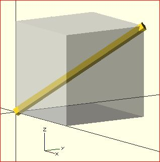 Example of OpenSCAD Rotate() used as a spherical coordinate system.