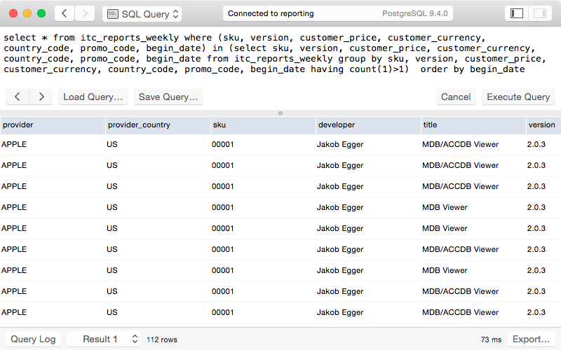SQL Query View