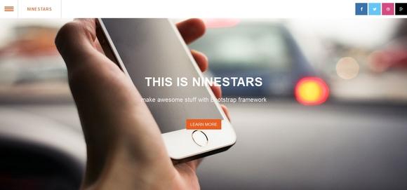 Nine Stars - free html5 templates
