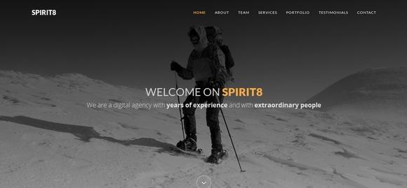 Spirit8 - website templates