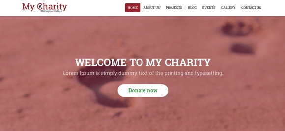 My Charity - website templates