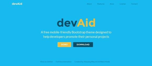 DevAid - free website templates