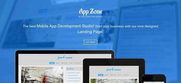 App Zone - free website templates