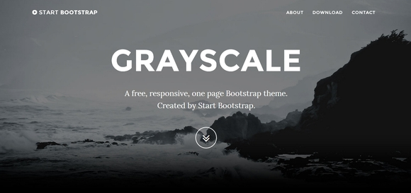 Grayscale - bootstrap templates 2015