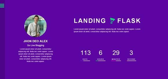 Flask Landing - html5