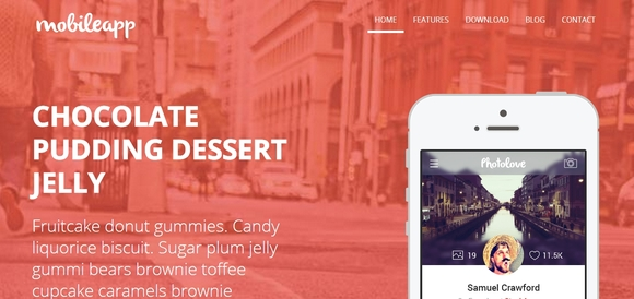 Mobileapp - bootstrap template