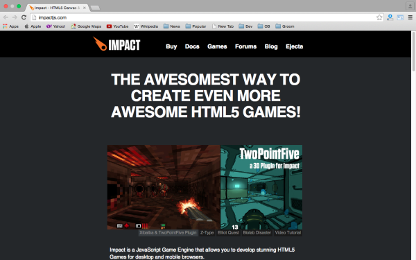 best HTML5 and javascript game engine libraries  - impactjs