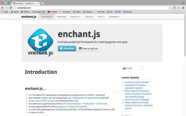 best HTML5 and javascript game engine libraries  enchantjs