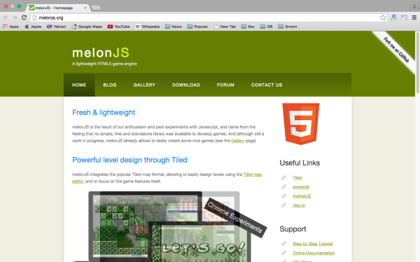 best HTML5 and javascript game engine libraries  melonjs