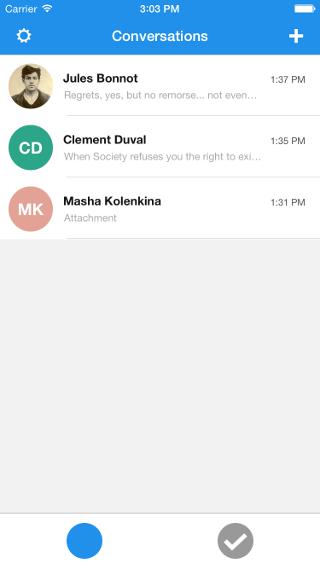 Signal Inbox Screenshot