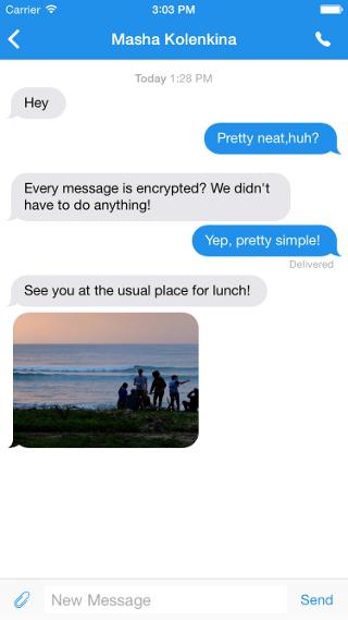 Signal Conversation Screenshot