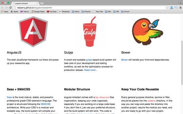 best angularJS tools for web developers for 2015 - angular-kickstart
