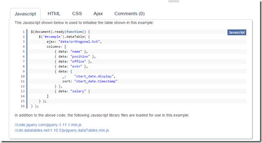Datatable - kingdelee的个人空间- OSCHINA