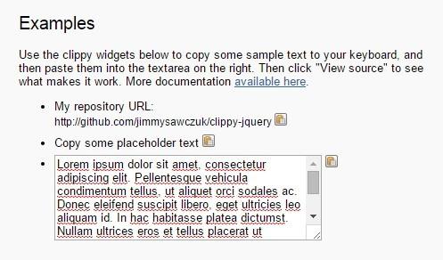 jQuery-clippy